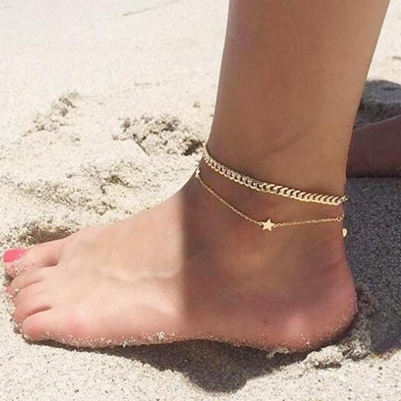 Star and Chain Anklet