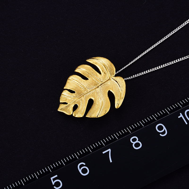 Handmade Monstera Pendant