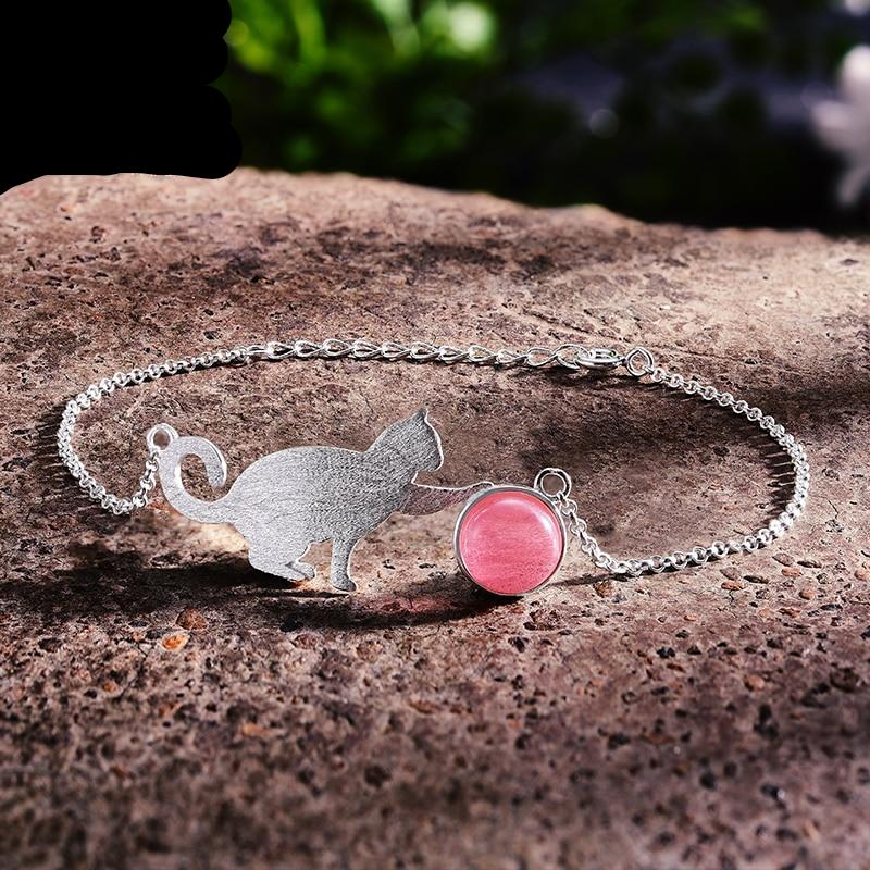 Handmade Playful Cat Bracelet