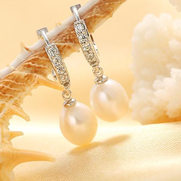 Genuine Pearl Earrings