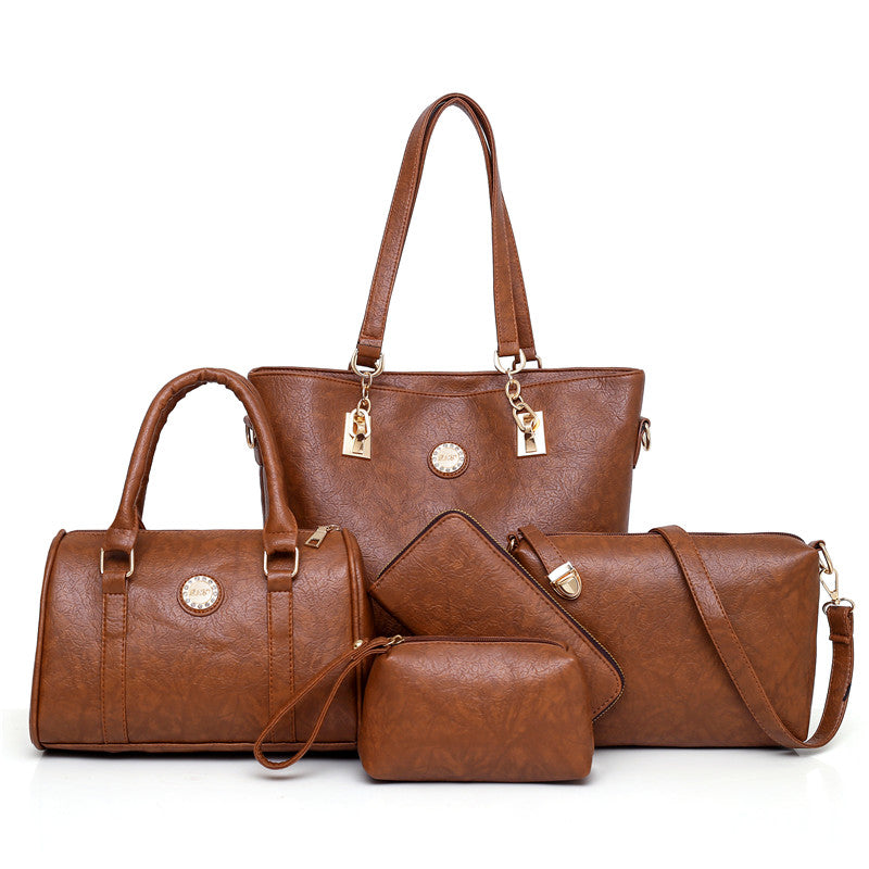5 Piece Leather Bag Set