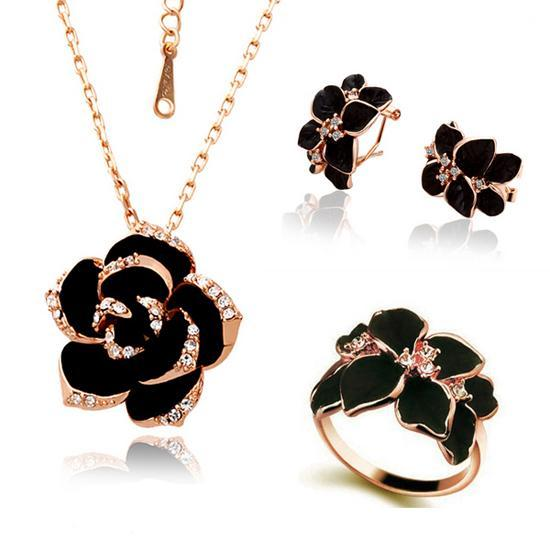 Black Flower Set