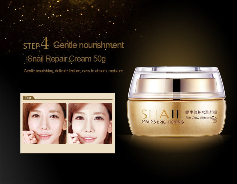 5 Piece Snail Cream Skin Care Kit