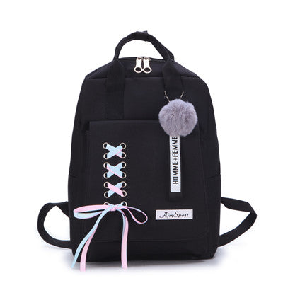 4 Piece Ribbon Backpack Set