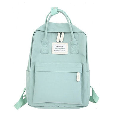 Waterproof Candy Color Canvas Backpacks