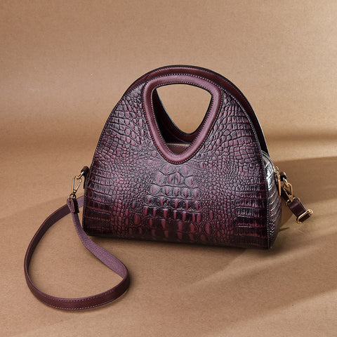 Leather Crocodile Pattern Bags