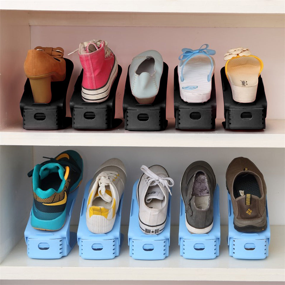 16 Pcs Double Shoe Rack Organizer