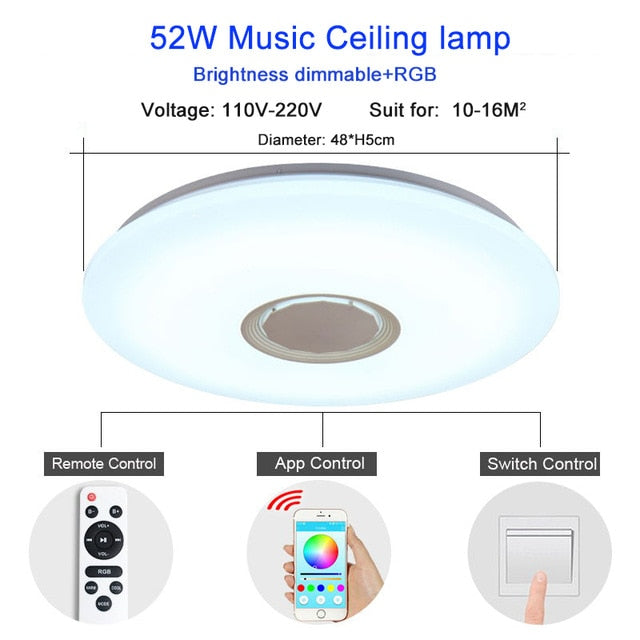 Music Reactive LED Ceiling Lights