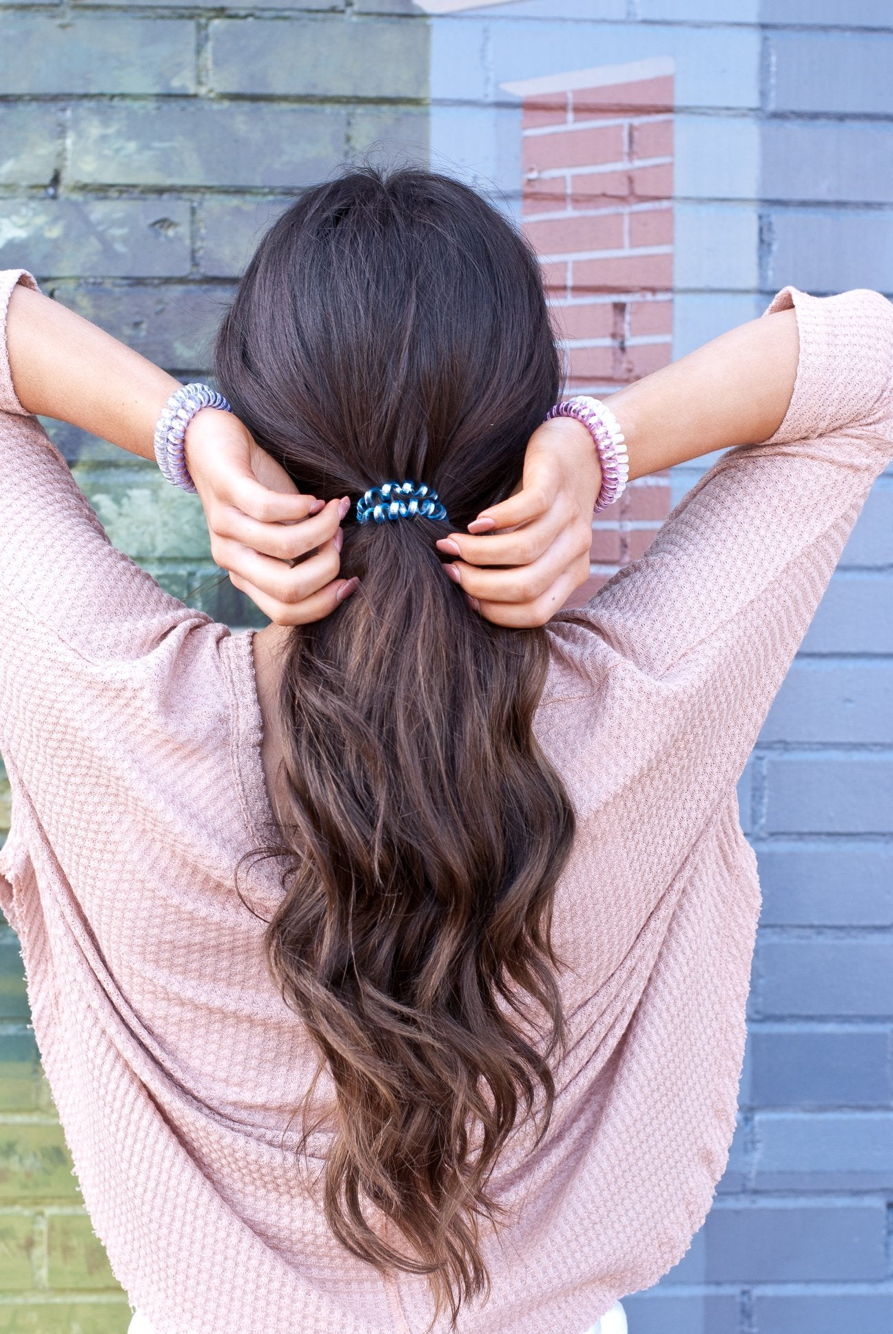 Light Blue Matte Hair Tie
