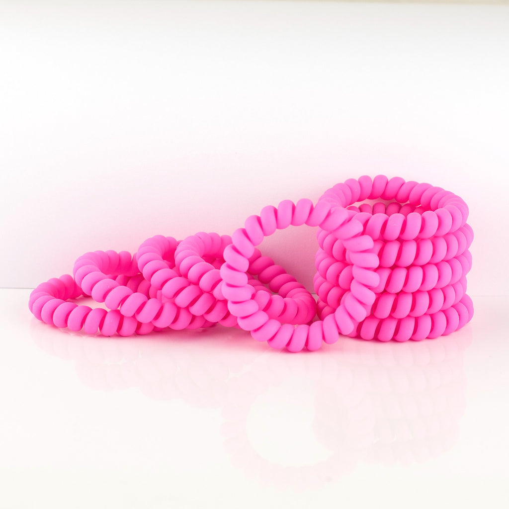 Hot Pink Matte Hair Tie