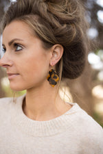 Tortoise Quatrefoil Acrylic Earrings