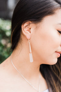 White Pixie Stick Earrings