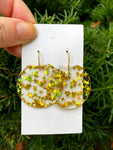 Gold Star Crescent Acrylic Earrings