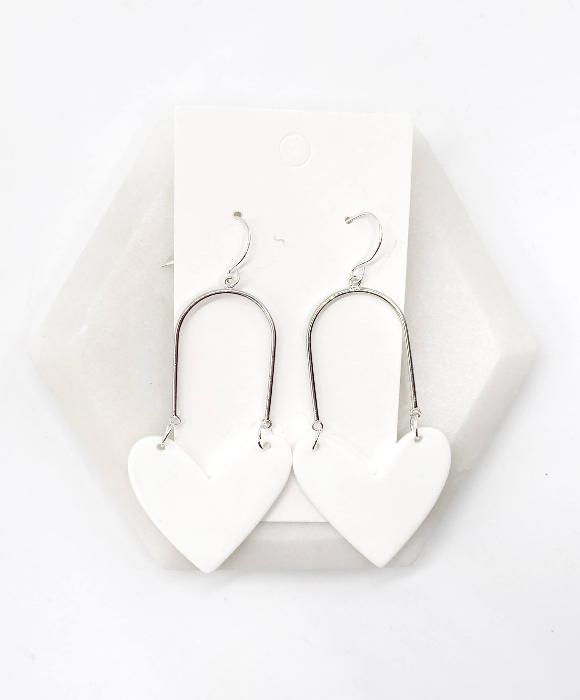 White Acrylic Heart Swing