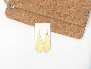 The Em Gold Leather Earrings