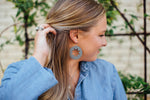 Dark Grey Star Cutout Earrings