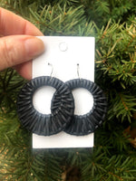 Black Raffia Circle Cutouts