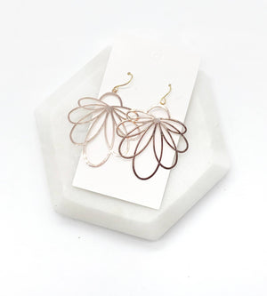 Rose Gold Loopy Earrings