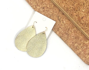Gold Cobra Teardrop Earrings