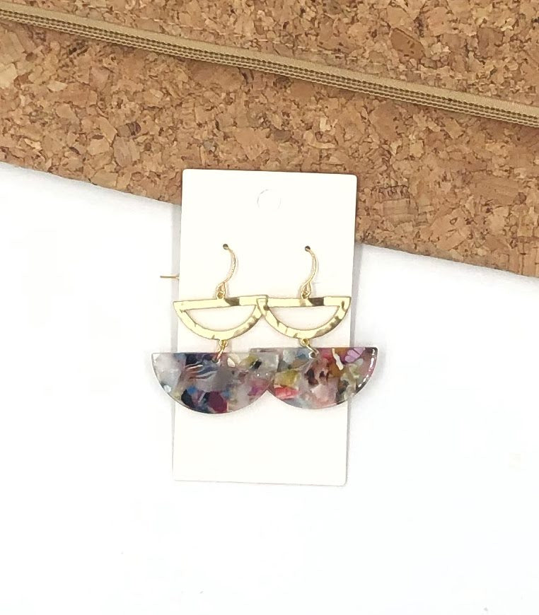 Multi-Color Luna Earrings