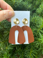 Cognac Arch Earrings