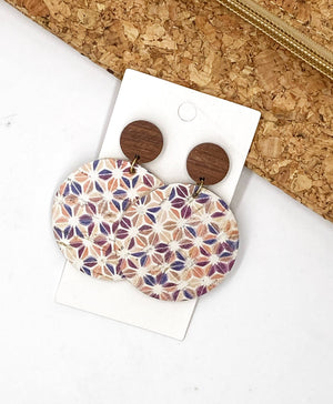 Pinwheel Disc Post Earrings