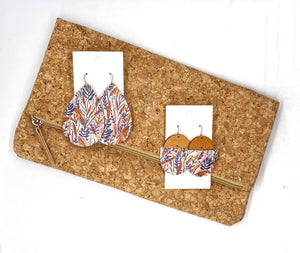 Fall Foilage CorkLeather and Wood Deco Drops