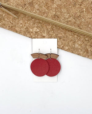 Red Halo Disc Earrings