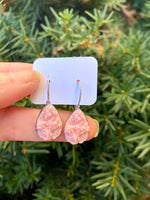 Light Pink Teardrop Druzy Dangle