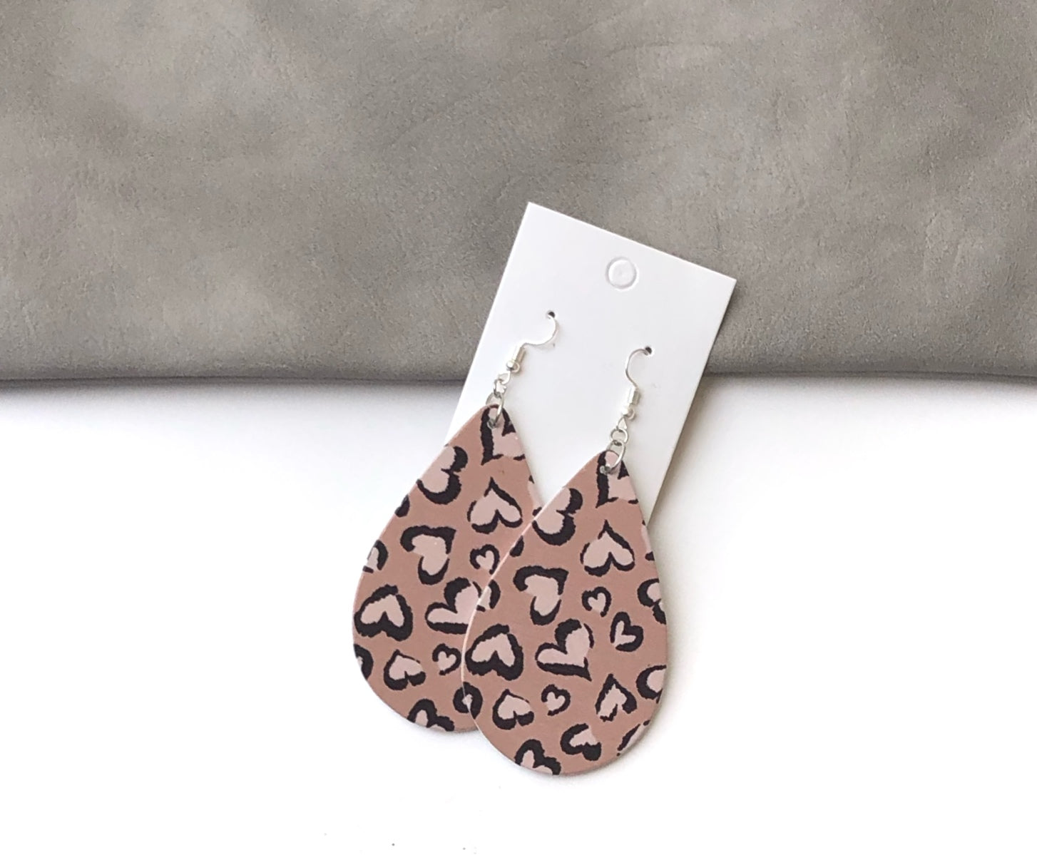 Heart Wood Teardrop Earrings