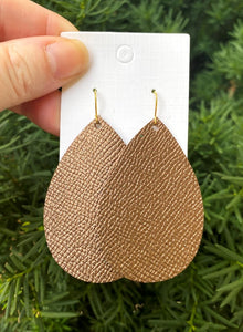 Bronze Leather Teardrop