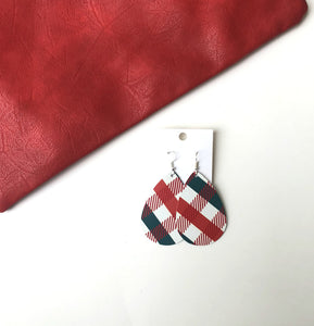 Christmas Plaid Teardrop