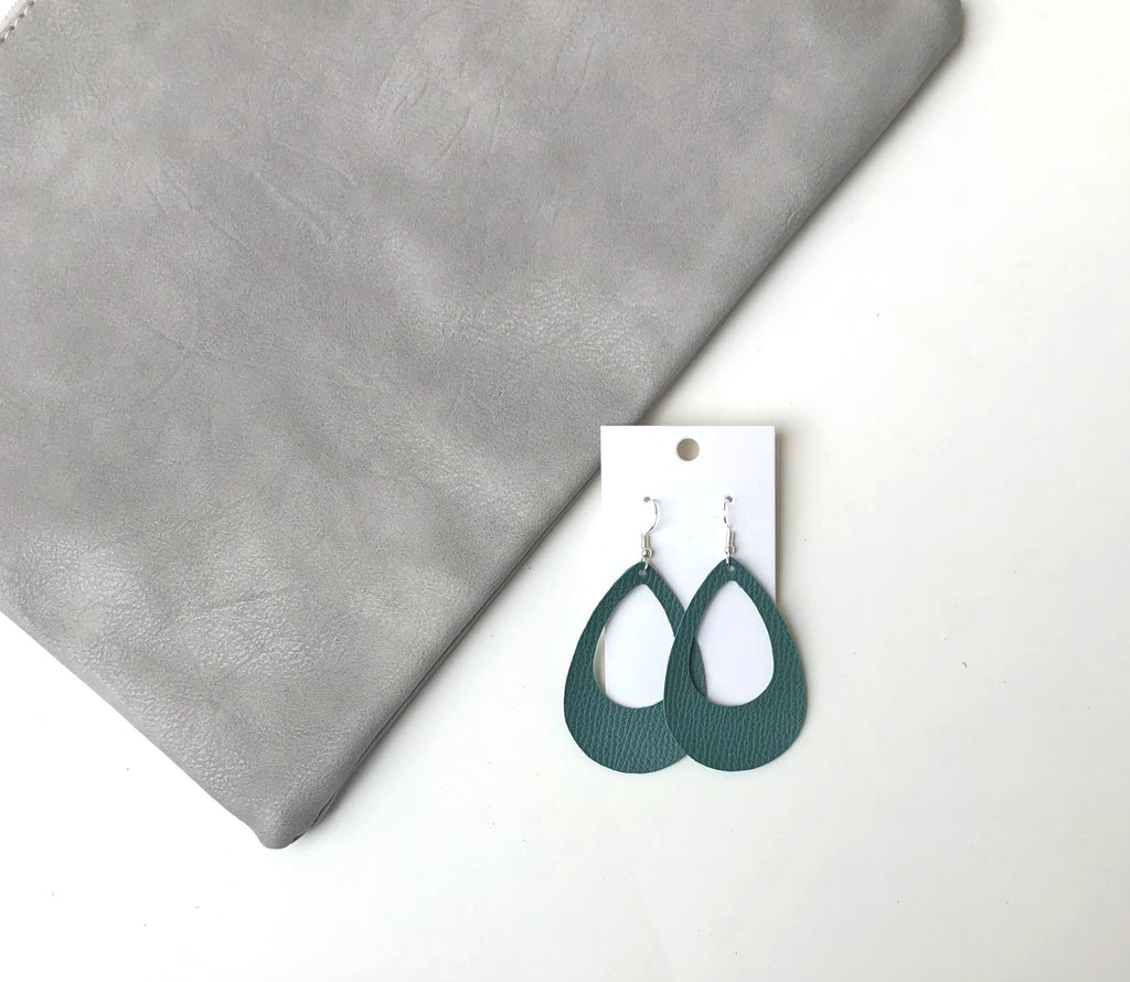 Emerald Green Teardrop Cutouts