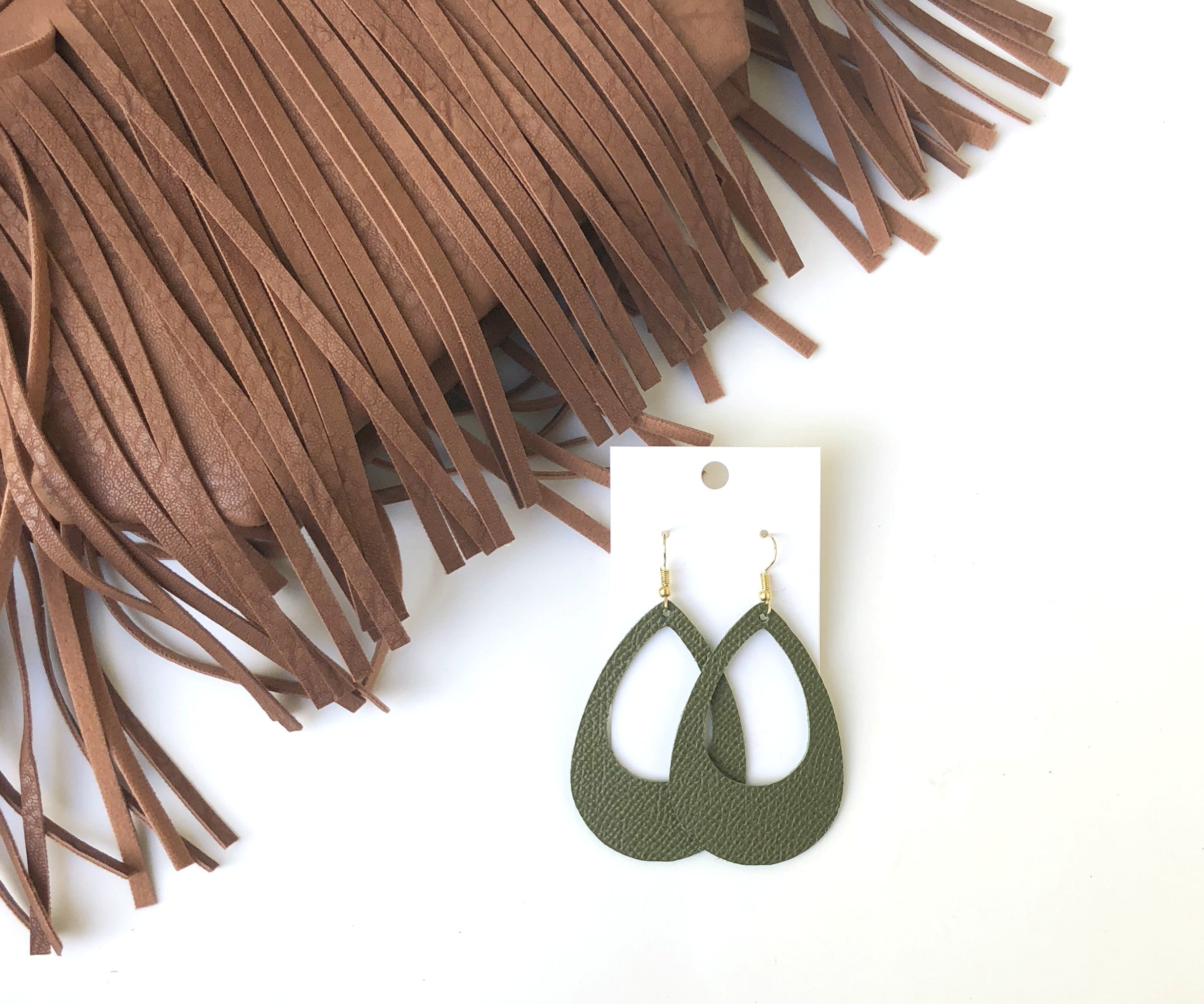 Meadow Green Teardrop Cutouts