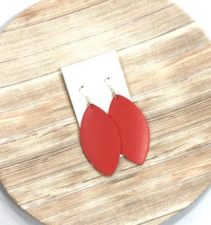 Grenadine Red Marquis Earrings