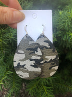 Gray Green Camo Teardrop
