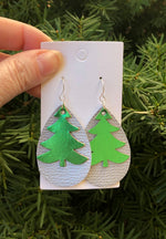 Layered Tree Teardrop Earrings