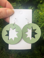 Pistachio Star Cutout Earrings