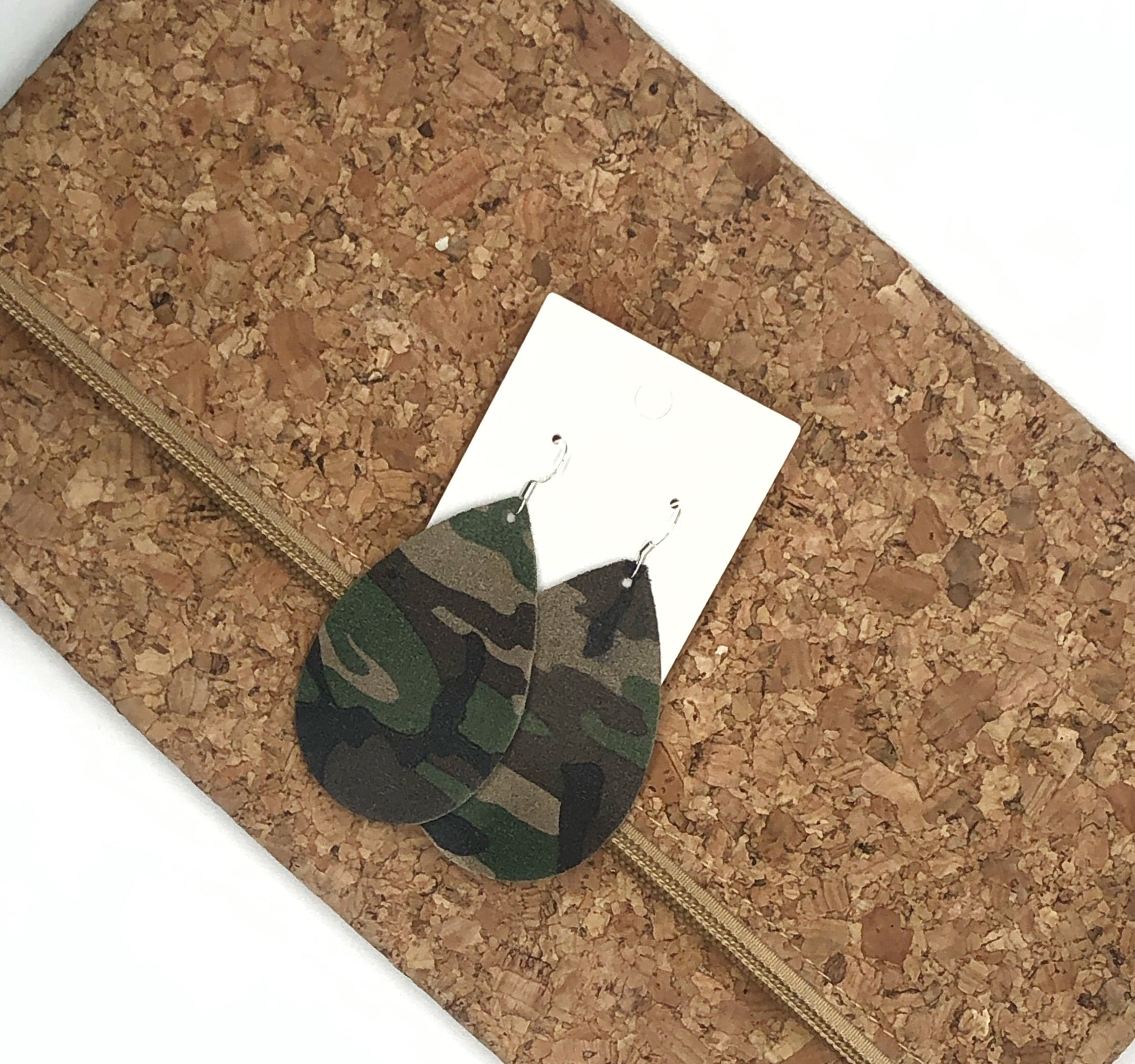 New Camo Suede Teardrop