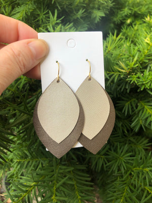 Bronze Layered Leaf Drops
