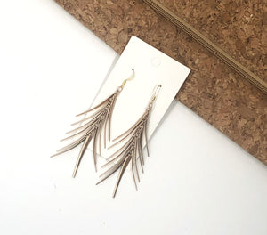 Gold Spiked Earrings