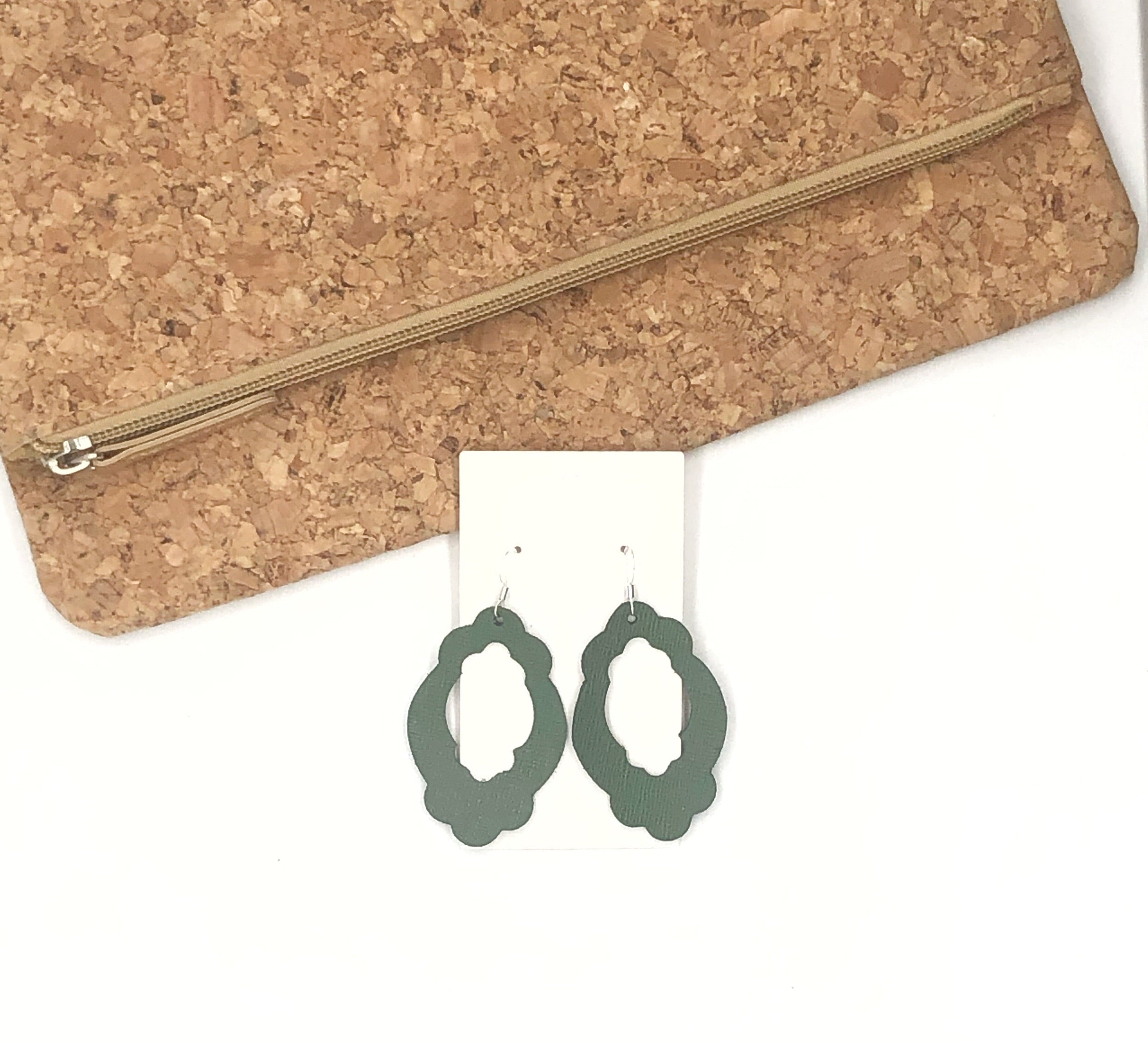 Hunter Green Duchess Earrings