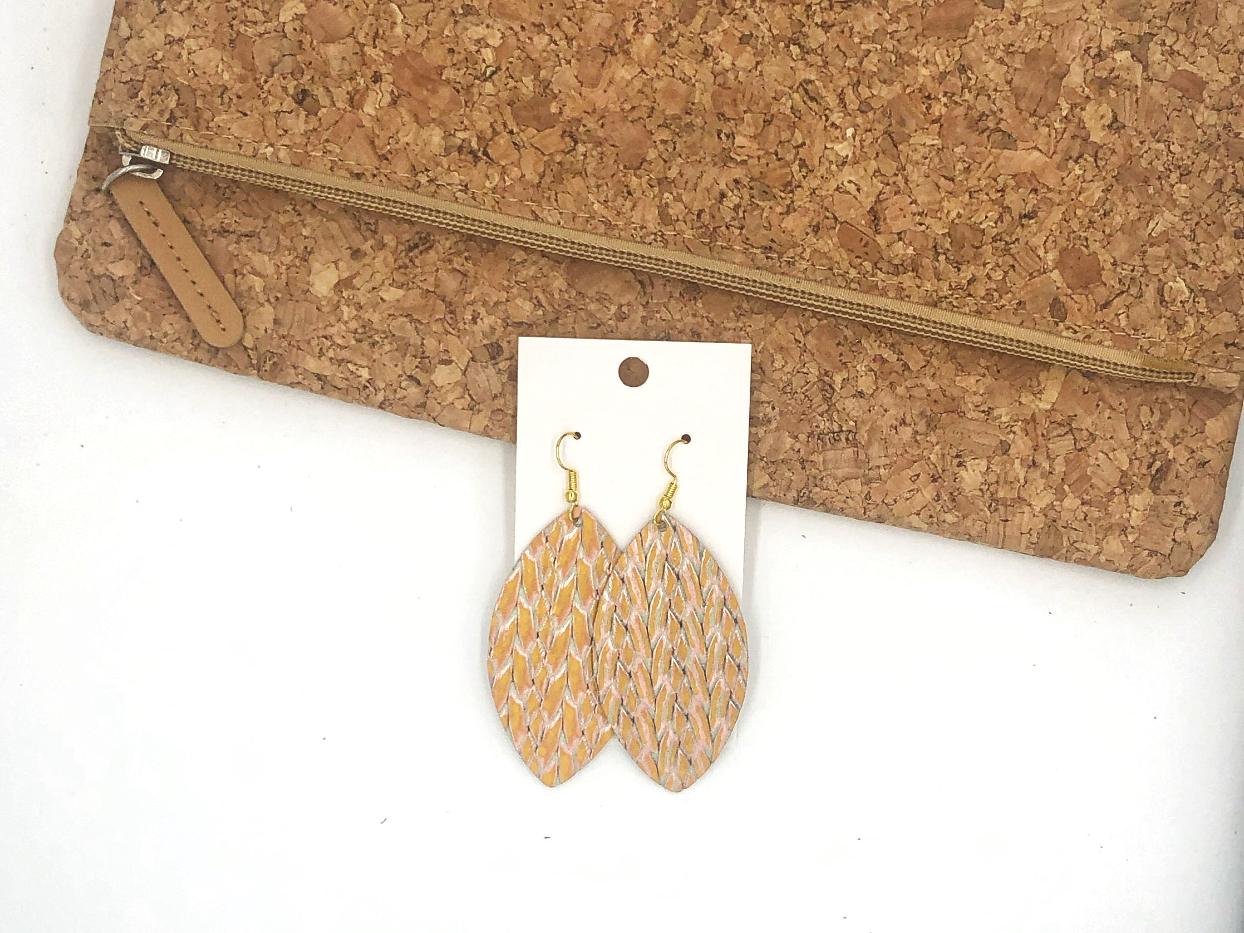 Yellow Braided Marquis Drops