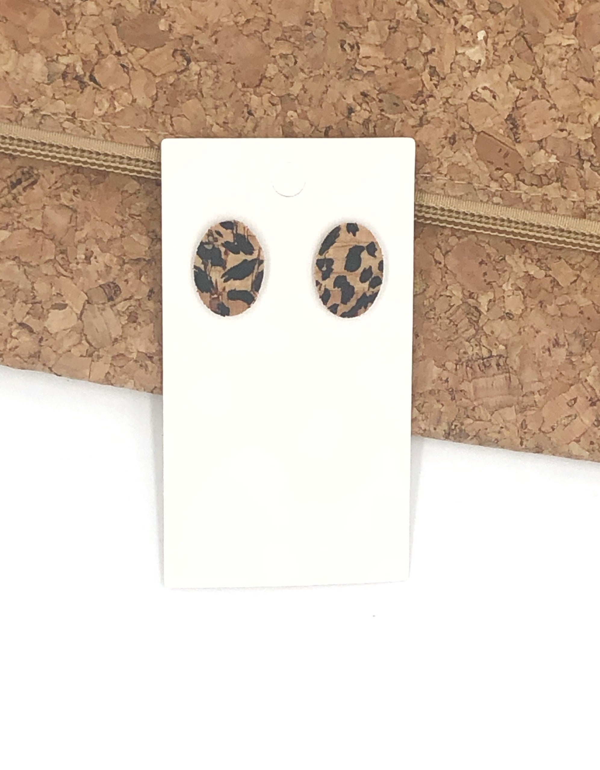 Spotted Oval Leather Studs