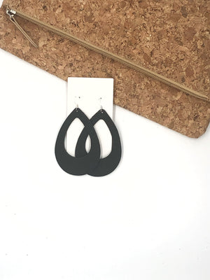 Black Teardrop Cutouts