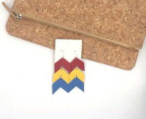 Jayhawk KU Colors Ascending Arrows