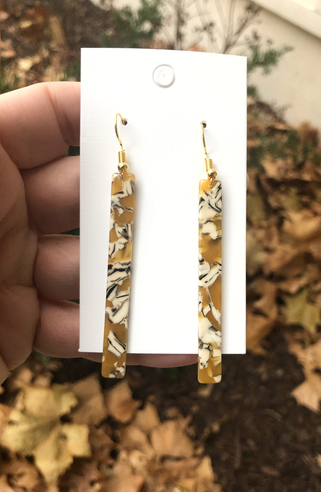 Yellow Marble Acrylic Sticks