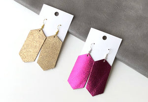 Hot Pink Hex Earrings