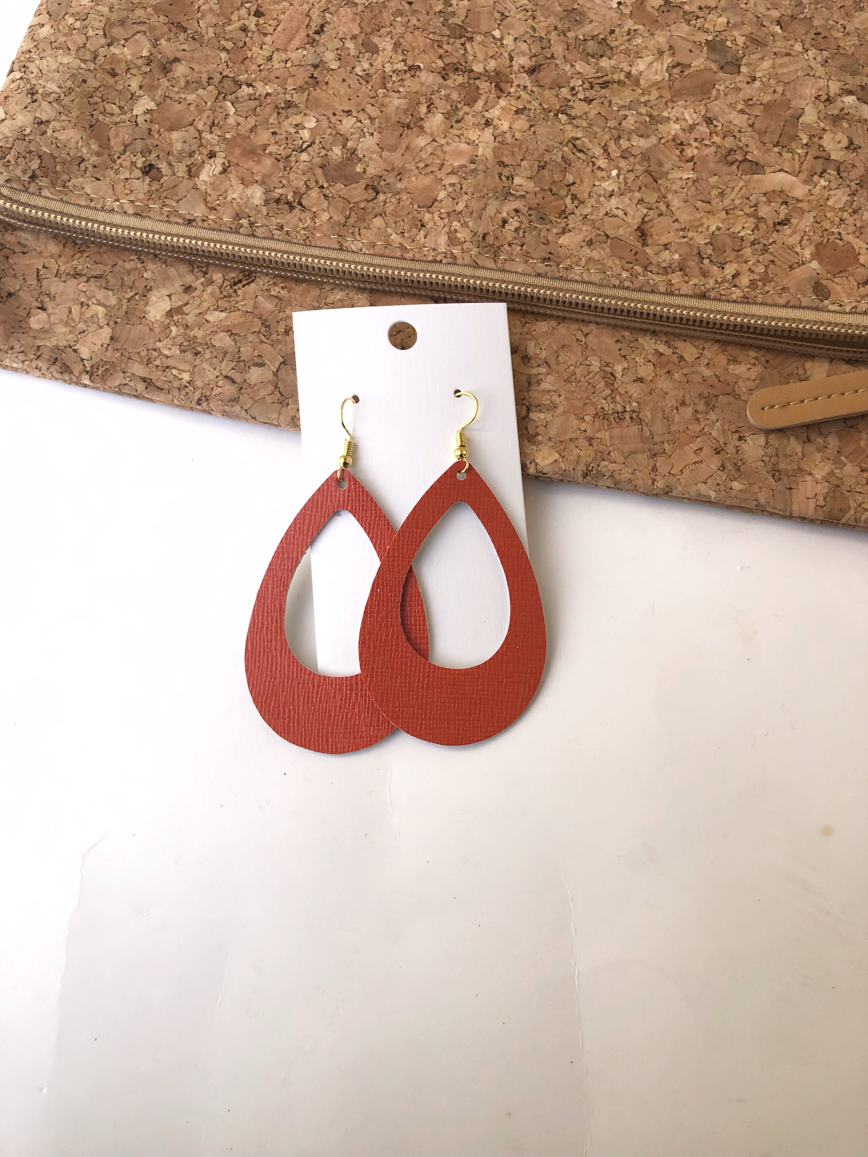 Tangerine Orange Teardrop Cutouts