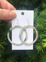 Key Lime Acrylic Hoops Earrings